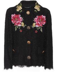Dolce & Gabbana - Cotton-blend Lace Jacket - Lyst