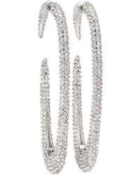 Saint Laurent - Crystal Hoop Earrings - Lyst