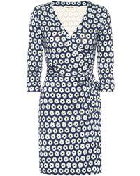 19507f1d90 Lyst - Diane von Furstenberg Julian Silk Wrap Dress in Blue