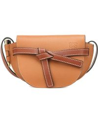 Loewe - Gate Mini Leather Crossbody Bag - Lyst