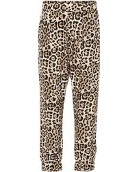 ATM - Leopard Printed Silk Trousers - Lyst