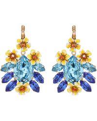 Dolce & Gabbana - Floral Pendant Earrings - Lyst