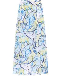 Emilio Pucci - Printed Cotton And Silk Skirt - Lyst