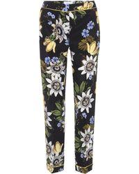 Erdem - Ginnie Floral-printed Silk Trousers - Lyst