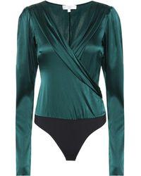 Caroline Constas - Stretch Silk Bodysuit - Lyst
