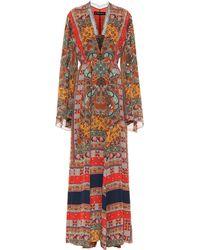 Etro - Robe longue en soie imprimée - Lyst