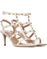 Valentino | Garavani Rockstud Leather Sandals | Lyst