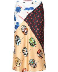 Marine Serre - Printed Silk Skirt - Lyst