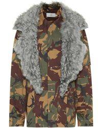 Preen By Thornton Bregazzi - Dree Fur-trimmed Camouflage Jacket - Lyst