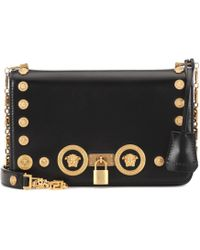 Versace - Icon Leather Shoulder Bag - Lyst