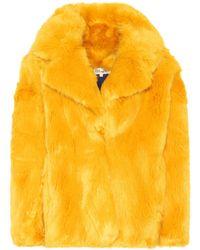 Diane von Furstenberg - Faux Fur Jacket - Lyst