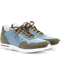 Loro Piana - My Wind Microfibre And Suede Sneakers - Lyst