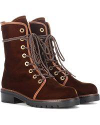 Stuart Weitzman - Metermaid Velvet Ankle Boots - Lyst