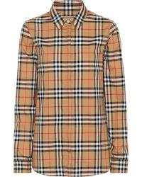 Burberry - Vintage Check Cotton Shirt - Lyst