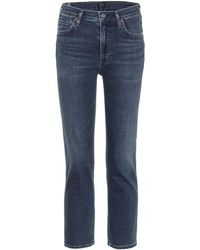 Citizens of Humanity - Cara Cropped High-waisted Jeans - Lyst