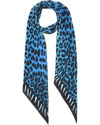 Rockins - Printed Silk Scarf - Lyst