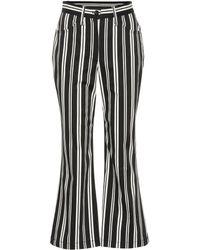 Marc Jacobs - Gestreifte Hose aus Stretch-Baumwolle - Lyst
