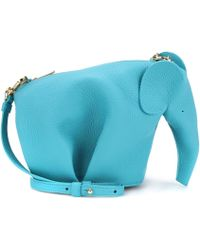 Loewe - Elephant Mini Leather Shoulder Bag - Lyst