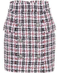 Balmain - Tweed Miniskirt - Lyst