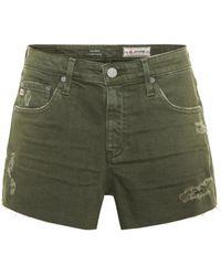 AG Jeans - The Bryn Distressed Denim Shorts - Lyst