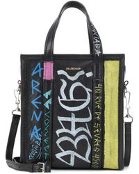 Balenciaga - Bazar Xs Printed Leather Shopper - Lyst
