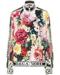 Dolce & Gabbana - Floral Stretch Cady Track Jacket - Lyst