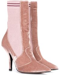Fendi - Exclusive To Mytheresa.com – Velvet Ankle Boots - Lyst
