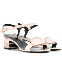 Roger Vivier | Chips West Buckle Leather Sandals | Lyst