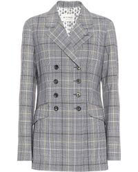 Etro - Checked Wool And Mohair Blazer - Lyst