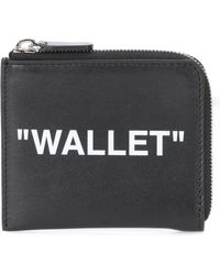 Off-White c/o Virgil Abloh - Quote Print Leather Wallet - Lyst