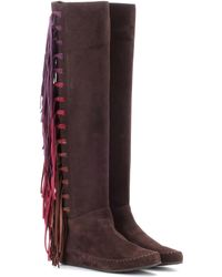 Etro - Suede Boots - Lyst