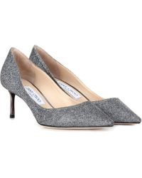 Jimmy Choo - Lamé-Pumps Romy 60 - Lyst