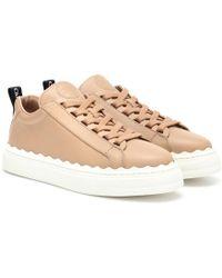 Chloé - Sneakers Lauren aus Leder - Lyst