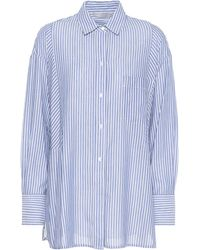 Vince - Striped Cotton-blend Shirt - Lyst