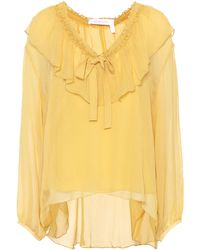 See By Chloé - Silk Top - Lyst