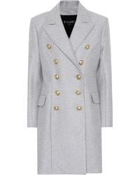 Balmain - Wool And Cashmere Coat - Lyst