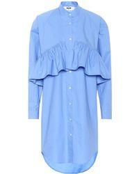 MSGM - Cotton Dress - Lyst