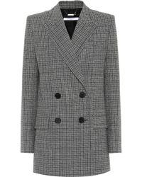 Givenchy - Blazer en laine à carreaux - Lyst