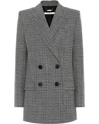 Givenchy - Checked Wool Blazer - Lyst