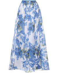 Carolina Herrera - Floral-printed Silk Skirt - Lyst