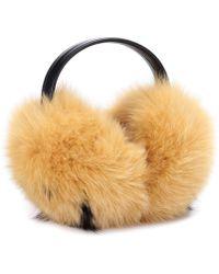 Anya Hindmarch - Smiley Fur Ear Muffs - Lyst