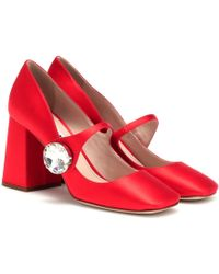 Miu Miu - Satin Mary Jane Court Shoes - Lyst