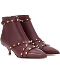 RED Valentino - Leather Ankle Boots - Lyst