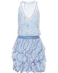 Poupette - Printed Ruffle Dress - Lyst