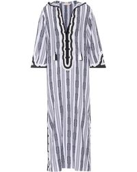 Tory Burch - Corbin Striped Cotton Kaftan - Lyst