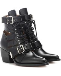 Chloé - Rylee Leather Ankle Boots - Lyst