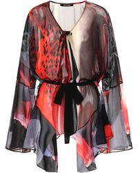 Roberto Cavalli - Printed Silk Blouse - Lyst