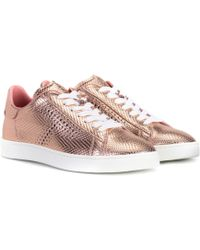 Tod's - Metallic Leather Trainers - Lyst