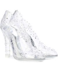 Dolce & Gabbana - Cinderella Embellished Transparent Court Shoes - Lyst