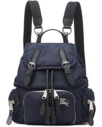 Burberry - Navy Medium Puffer Crossbody Backpack - Lyst